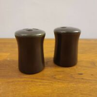 VTG Franciscan Madeira Green/Brown Salt & Pepper Shakers
