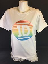 Gildan Men White T-Shirt Stand Up To Cancer  Size Large 100%cotton Bin58#15