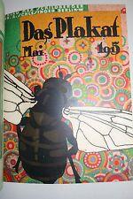Das Plakat 1915 German poster magazine 6 issues original bound volume