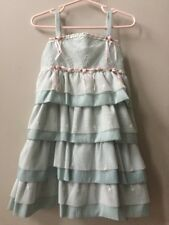 Isabella & Chloe Mint Green Lace Rosette Ruffle Special Occasion Formal Dress 3T