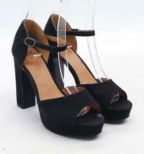 H&M Womens EU Size 39 Black Suede Heels