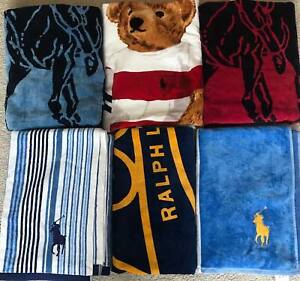 BNWT POLO RALPH LAUREN LUXURY LARGE BEACH TOWEL/SWIMMING TOWEL/TOWELS XXL(35x66)