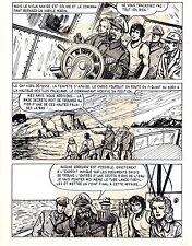TAROU CONTRE LES SOLDATS JAPONAIS (BOB DAN) PLANCHE ORIGINALE AREDIT  PAGE 41