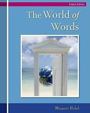 The World of Words: Vocabulary for College Success, Margaret Ann Richek, Good Bo