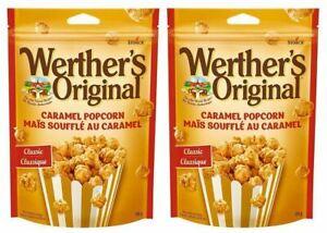 Werther's Original Caramel Popcorn, 2 Pack Value Bundle, (170g/6oz. Per Pack), (