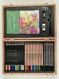 Derwent Academy Sketch Colour and Paint Pencil Box Set, Brand New