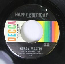Pop 45 Grady Martin - Happy Birthday / Anniversary Song On Decca