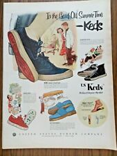 1952 U S Keds Shoes Ad In the Good Old Summer Time
