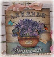 """~ """"LAVANDE..."""" Vintage ~ Shabby Chic ~ Country Cottage style ~ Wall Decor Sign ~"""