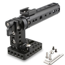 CAMVATE DSLR Top Handle Plate 15mm Rod hole Cold Shoe Mount for Nikon Sony GH5