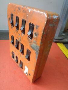 MK steel industrial light switch 12 gang VH23U3427