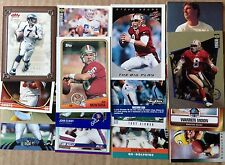 lot of 6 3 Hall of Fame QBs Plus Bonus 3 Pro Bowl players cards from the past