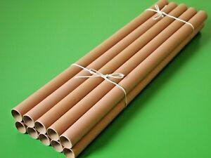 10 Papphülsen 56 cm lang 2,55 cm Durchmesser 1 mm Karton zum Basteln, Gestalten