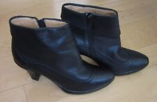 Sofft Wms Black Leather Ankle Fashion Boots 8