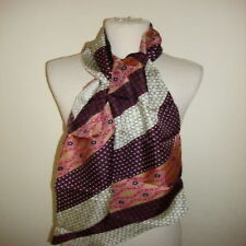 collection xiix scarf wrap patchwork design black pink
