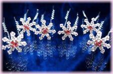 BIJOU MARIAGE ARGENTE 6 Crochets épingles pics cristal