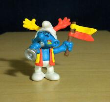 Smurfs Soccer Team Fan Smurf Vintage Collectible Figure Toy PVC Figurine 20530