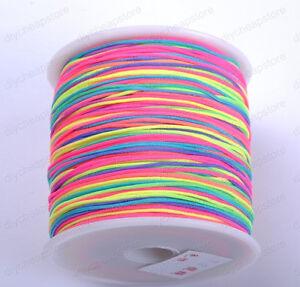 1Roll 100Yards Nylon Cord Thread Chinese Knot Macrame Bracelet Braided Cord 1MM