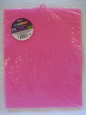 """3 Sheets Darice Pink Plastic Canvas 7 Mesh 10.5"""" x 13.5"""" New in Package of 3"""
