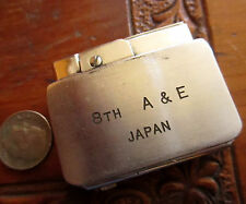 Penguin 1950s Military Lighter - 8th A & E Japan Stainless Steel Flat Glory