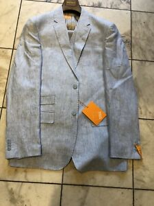 Men 100/% Linen Sport Coat Summer Blazer INSERCH Half Lined Paisley 535 Raspberry
