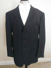 Burberry London Mens Slim 3 Button Super 100s Wool Pinstripe Suit Jacket Sz 48R