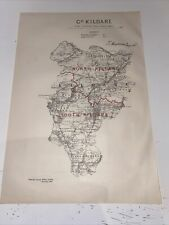 1885 County Kildare Map Ordnance Survey Office Boundary Commissioners Report