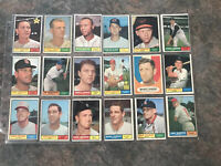 1961 Topps Baseball Lot 18 Cards See Photos For Condition 1/4 Rookie Card Rc Ex