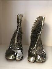 Maison Martin Margiela MMM Line 22 Metallic Iridescent Tabi Ankle Boots 39 UK 6