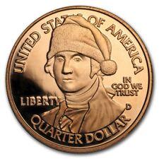 Santa George Washington 1 oz .999 Copper BU Round Christmas Holiday Season Coin