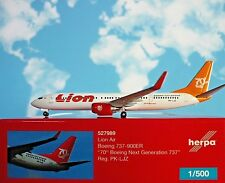 Herpa ALI 1:500 Boeing 737-900ER LIONE AIR 70th pk-ljz 527989 modellairport500