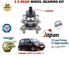 FOR SUBARU JUSTY 1.0 R 998cc 2007->NEW 1 X REAR WHEEL BEARING HUB KIT