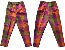 NOS Wool Cigarette Pants Plaid Tweed Lined Skinny Ankle VTG 1960s 60