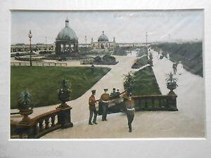 Great Yarmouth Mounted Edwardian Photograph - Wellington Gardens c1910, Repro