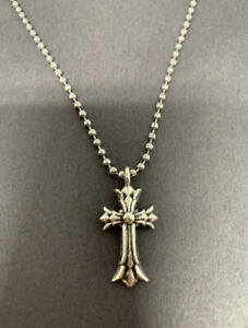 Chrome Hearts Cemetery Cross Necklace Pendant Sterling Silver