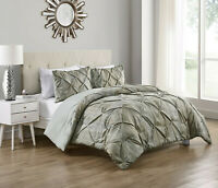 Rustic Distressed Ruffled Karla 3 Pc Sage Green Comforter Set - Assorted Sizes