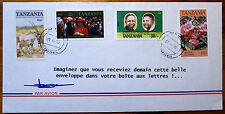 Enveloppe Publicitaire 4 Timbres Oblitérés Tanzania