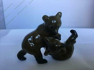 """Porcelain Stamped """"Playing teddy bears"""" by F. Heidenreich, Rosenthal, Germany"""