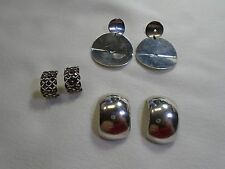 Lot of 3 VINTAGE EARRINGS STERLING SILVER DIFFERENT STYLES      40.15g      1511