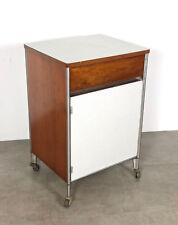 Vintage Raymond Loewy Mid Century Modern Industrial Rolling Cart Storage Cabinet