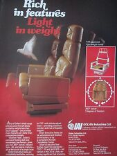 9/1982 PUB IAI ISRAEL AIRCRAFT INDUSTRIES GOLAN AIRCRAFT SEAT SIEGE AVION AD