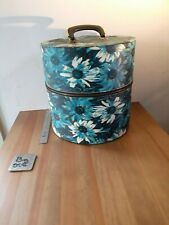 Vintage Floral Franklin Fashion Tall Wig Hat Box Travel Case