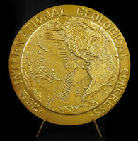 Medal Congress Geology Paris 1980 Plate Tectonics of Plates Tectonic Flat Medal