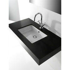 Lavandino Lavabo Sottopiano Bagno Design Tevere in ceramica bianco 56x37 cm