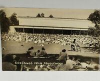 "MA RPPC Postcard Lenox Berkshires ""Greetings from Tanglewood"" Whitestone Photo"