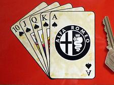 "Alfa romeo royal flush cartes à jouer autocollant voiture 4"" giulia mito giulietta spyder"