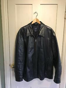 Vintage GAP Black men's leather jacket size XL