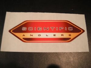 """Fly Fishing Sticker, Scientific Anglers, """"Fly Line"""", 5"""" X 1 3/4"""", Tapered ends"""