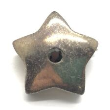 Vintage Oxidized Sterling Silver 925 Black Onyx Puffy Star Pin - Brooch Pendant