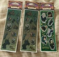 Harry Potter Stickers  NEW Warner Bros Licensed Lot of 3 Vintage scrapbooks